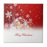 "Beautiful festive ""Merry Christmas"" illustration Tiles"