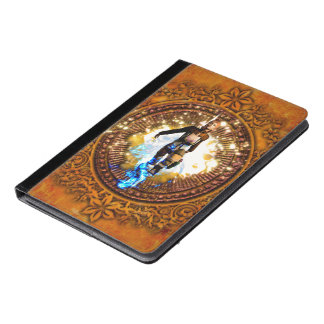 Beautiful fighter in a circle with fire iPad air case