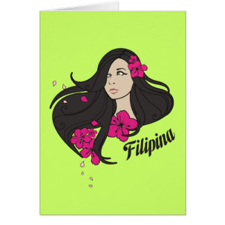 Beautiful Filipina Graphic Tee Card