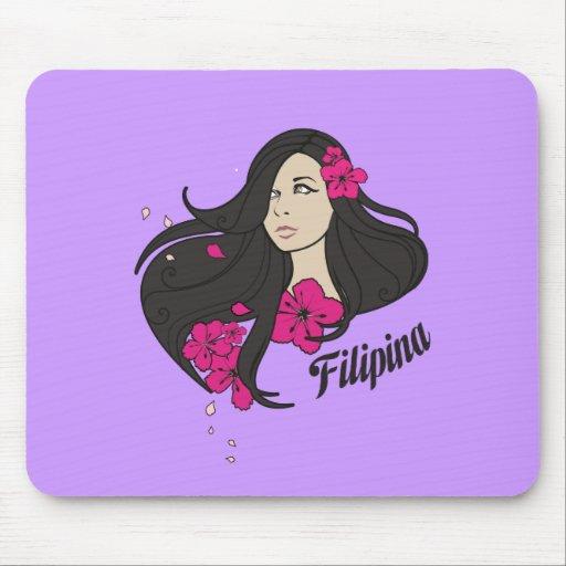 Beautiful Filipina Graphic Tee Mouse Pads