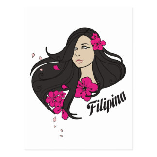 Beautiful Filipina Graphic Tee Postcard