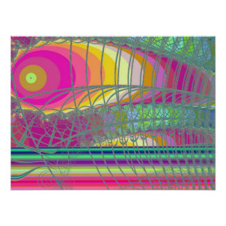 Beautiful fine art abstract digital fractal graphi posters