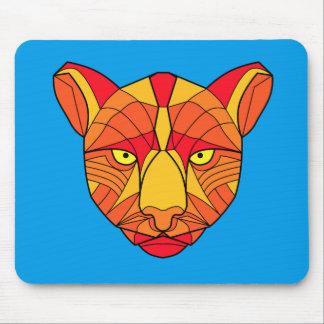 Beautiful Fire Orange Cougar Mouse Pad