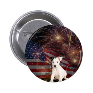 Beautiful Fireworks Celebration - Jack Russell 2 Inch Round Button