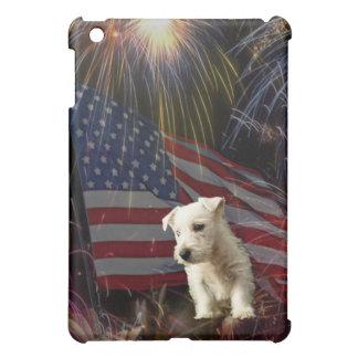Beautiful Fireworks Celebration - Westie Design iPad Mini Covers