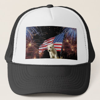 Beautiful Fireworks Celebration - Westie Design Trucker Hat