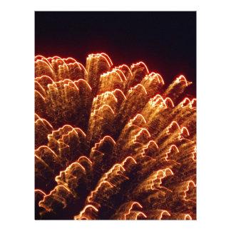 beautiful fireworks custom letterhead