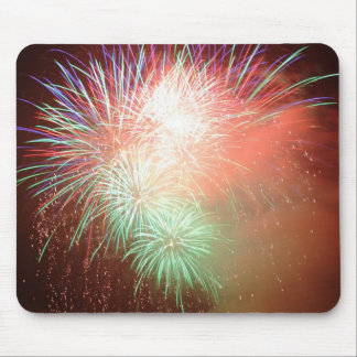 BEAUTIFUL FIREWORKS MOUSE PAD