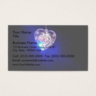 Beautiful flashing heart business card