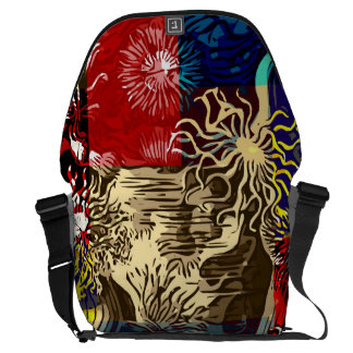 Beautiful Floral Abstract Courier Bag