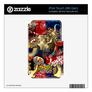 Beautiful Floral Abstract Decals For iPod Touch 4G