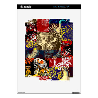 Beautiful Floral Abstract Decals For The iPad 2