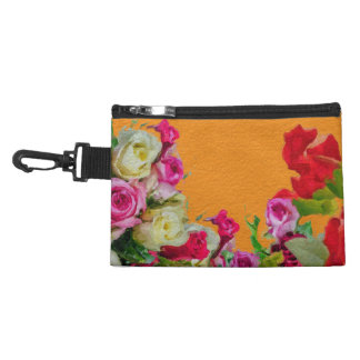 Beautiful Floral Abstract Orange Accessory Bag
