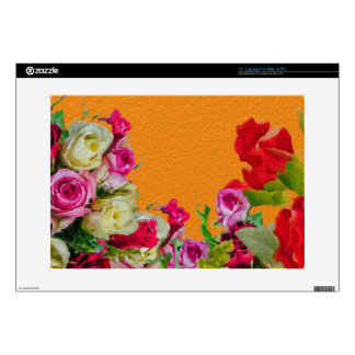 Beautiful Floral Abstract Orange Laptop Decal