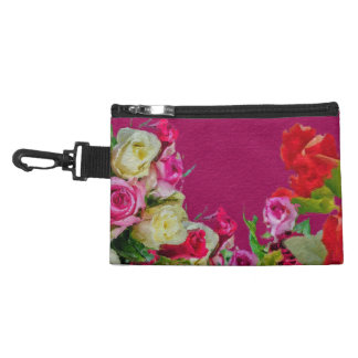 Beautiful Floral Abstract Pink Accessory Bag