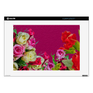 Beautiful Floral Abstract Pink Laptop Skins