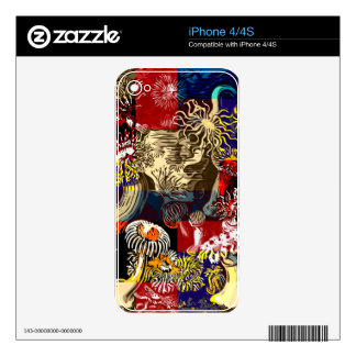 Beautiful Floral Abstract Skins For The iPhone 4S