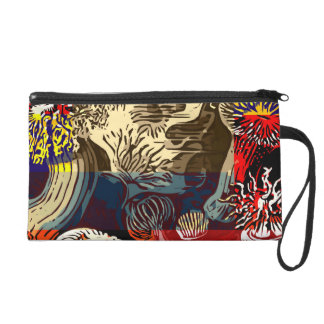 Beautiful Floral Abstract Wristlet