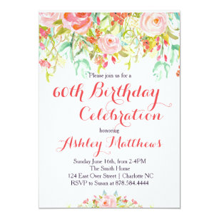 Adult birthday invitations announcements zazzle beautiful floral adult birthday invitation filmwisefo