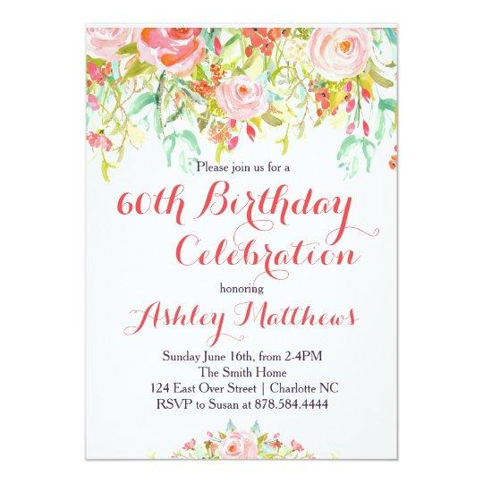 Beautiful floral adult birthday invitation zazzle beautiful floral adult birthday invitation filmwisefo