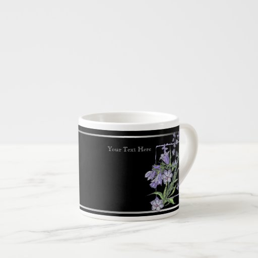 Beautiful Floral and Butterfly Design Espresso Espresso Cup