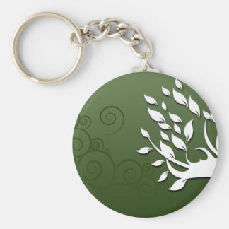 Beautiful floral and hearts on green key chains