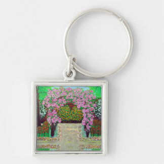 Beautiful Floral Archway Painting Keychain