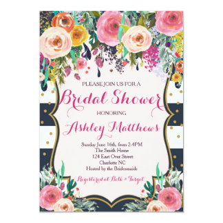 Beautiful Floral Baby Shower Invitation, Baby Card