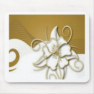 Beautiful floral background design mousepads