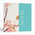 Beautiful floral binder with cherry blossom