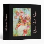 Beautiful floral binder with dry roses blossom