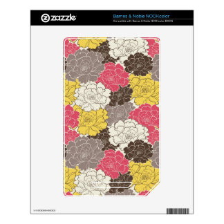 Beautiful Floral Blooms NOOK Color Skins