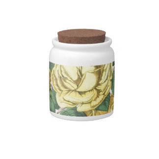 beautiful floral bouquet with spring flowers. candy jars