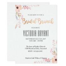 Beautiful Floral Bridal Brunch Invitation