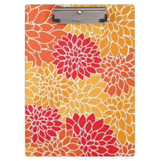 Beautiful Floral Clip Board