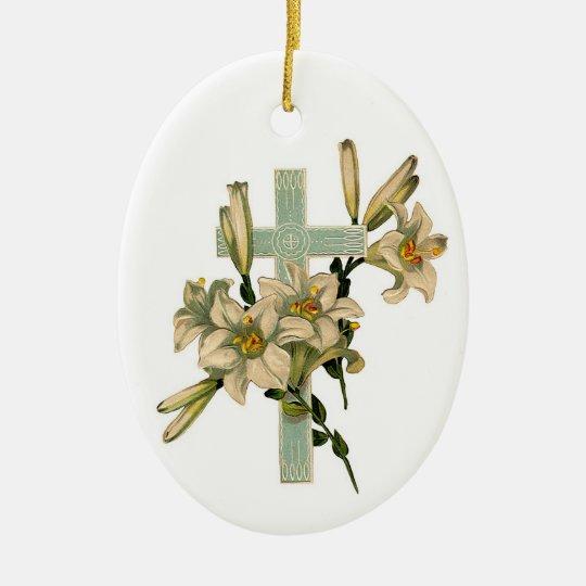 Beautiful Floral Cross Ornament