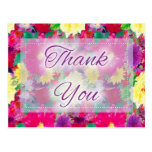 Beautiful Floral D2 Thank You Postcards