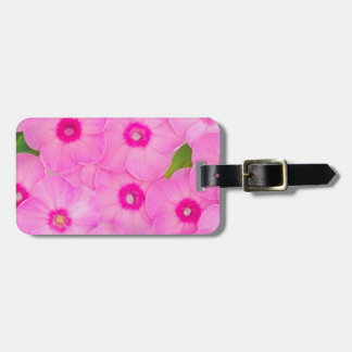 beautiful floral decoration luggage tag
