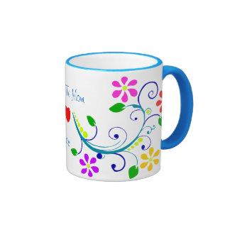 Beautiful Floral Design and Charming Heart To Mom Coffee Mug