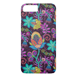 Beautiful Floral Design Glass Beads Look iPhone 7 Plus Case
