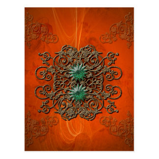 Beautiful floral elements postcard