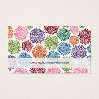 Beautiful Floral Flowers Custom Business Cards