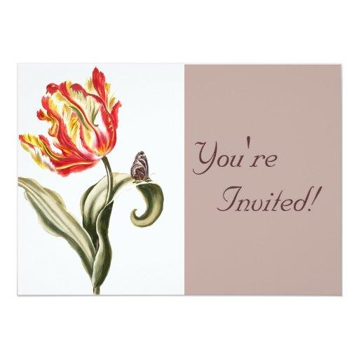 Beautiful Floral Garden Butterfly Card