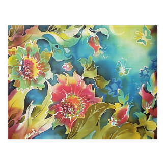 Beautiful Floral Garden in the Moonlight Post Cards