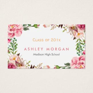 Beautiful Floral Graduate Students Graduation Business Card