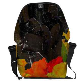 Beautiful Floral Grunge Painted Courier Bag