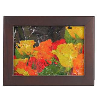 Beautiful Floral Grunge Painted Memory Box