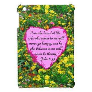BEAUTIFUL FLORAL JOHN 6:35 DESIGN iPad MINI CASE