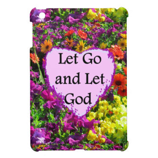 BEAUTIFUL FLORAL LET GO AND LET GOD PHOTO iPad MINI COVERS