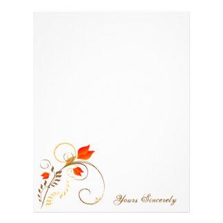 Beautiful Floral Letterhead